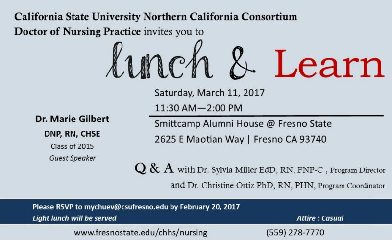DNP Lunch & Learn Invitation