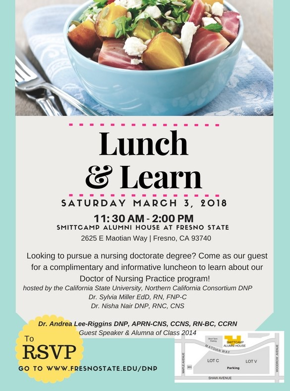 DNP Lunch and Learn flier